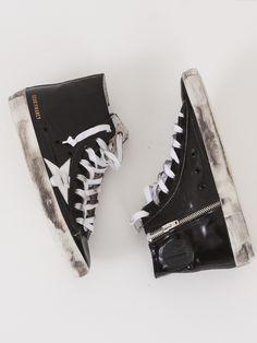 Golden Goose Black Shine Francy Sneakers
