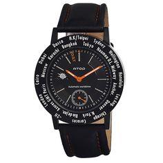 ATOP 世界時區腕錶-24時區菁英系列(黑色)-有. 設計uDesign