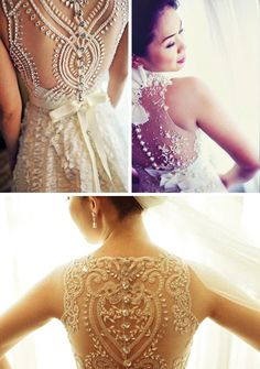 Tells you where to find these beautiful illusion back dresses that are floating around Pintrest. Bottom is my favorite.