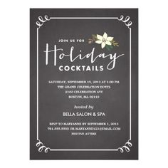 VINTAGE POINSETTIA | HOLIDAY PARTY  INVITATION   Click on photo to purchase. Check out all current coupon offers and save! http://www.zazzle.com/coupons?rf=238785193994622463&tc=pin
