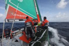 Franck Cammas & Erwan Israël / Leg 6 - Day 12 / Groupama in the Volvo Ocean Race / Credit : Yann Riou
