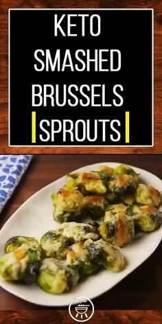 A low carb and calorie keto smashed brussels sprout Low Calorie Dinners, No Calorie Foods, Low Calorie Recipes, Keto Recipes, Cooking Recipes, Low Calorie Paleo, Sprout Recipes, Vegetable Recipes, Brussel Sprouts Keto Recipe