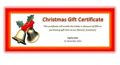 download the christmas gift certificate from vertex42com it worked well and no hidden charges or viruses lol good web site to go to for things li