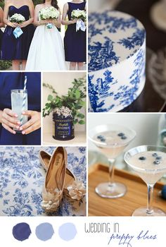like the blueberries and the hat box with delft blue print and the specialty drink with blueberries...
