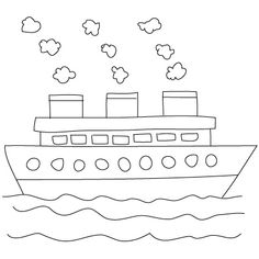 comment dessiner un bateau httpwwwdessein de dessin - Simple Drawing For Children