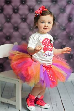 Hot Pink Bright Polka Dot Dora Birthday Tutu Outfit