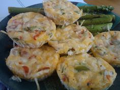 Egg White Mini Quiches..... (definitely omit bacon). Could use turkey bacon or cooked chicken pieces