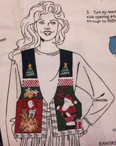 DAISY KINGDOM Adult Noel SANTA Vest Christmas Holiday S-M-L Cut Sew Panel easy #DaisyKingdom