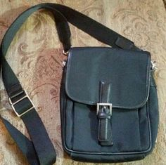 Authentic COACH purse Black leather and nylon cross body coach purse. Cross Posted. Coach Bags Crossbody Bags