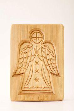 ANGEL wooden mold for pryaniki and cookies by PryanikiAndCookies