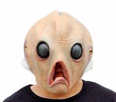 mascara creepy alien cerebro deluxe unitalla. halloween
