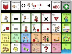 Sonoflex: Free Speech Generating Symbol App Tobii Sono Flex is an easy to use AAC vocabulary app that turns symbols into clear speech. It offers language to nonverbal users who are not yet in full control of literacy. Pinned by MRH Speech Language Pathology, Speech And Language, Tablet Android, App Of The Day, Assistive Technology, Teaching Technology, Literacy Skills, Short Words, Effective Communication