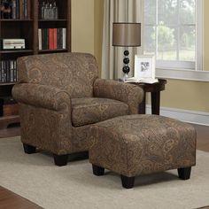 Handy Living Winnetka Chair and Ottoman Set