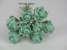 YF72M  ROSEBUDS IN MINT GREEN COLOURFAST FOAM 8 X 3 CM Vintage Colors, Vintage Flowers, Bunch Of Flowers, Rose Buds, Mint Green, Wedding Bouquets, Colours, Pretty, Plants