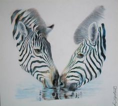 "Saatchi Art Artist Liman Gjakova; Drawing, ""Zebra's"" #art"
