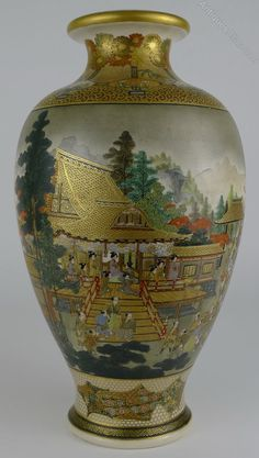 Antiques Atlas - Fine Quality 19th C Japanese Satsuma Vase Hozan