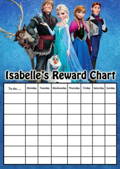 Kids-Personalised-Disney-FROZEN-A4-Behavioural-Reward-Chart