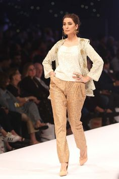 Designer: Lala Textiles LALA to introduce 'SHEEN' S/S Fabric, Print and Embroideries at Fashion Pakistan Week Cloth manufacturer Latest Pakistani Dresses, Fashion Hacks, Fashion Tips, Ready To Wear, Capri Pants, Textiles, Fabric, How To Wear, Clothes