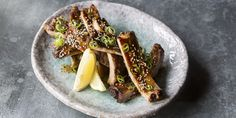Robata grilled pork ribs with honey, soy and ginger
