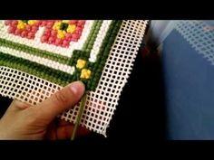 Tapeçaria - Ponto Eslavo também conhecido como Rosinha ou Lacinho - Como bordar - YouTube