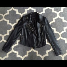 Rock & Republic Faux Leather Jacket This jacket was worn a few times, but is still in great condition! The material is soft and durable, and no studs are missing Rock & Republic Jackets & Coats