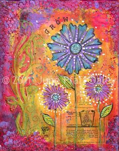 Grow 8 x 10 mixed media print by June Pfaff by junepfaffdaley, $18.00