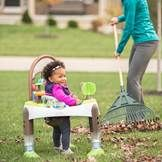 Play time at the park just got a lot easier!  The ExerSaucer Treehouse Triple Fun Fast Fold + Go- exclusively at Babies R Us.