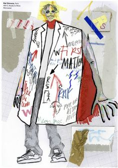 Fashion Illustration Design Our first year fashion design students are taught by illustrator Richard Gray. These are a selection of first year students fashion illustration work, depicting this seasons runway collections. Textiles Sketchbook, Fashion Design Sketchbook, Fashion Design Portfolio, Fashion Sketches, Dress Sketches, Drawing Fashion, Sketchbook Layout, Art Portfolio, Fashion Illustration Collage