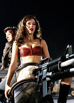 Freddy Rodriguez and Rose McGowan are killing zombies in Planet Terror - an outrageous and hilarious ride. Jeff Fahey, Rose Mcgowan, Bruce Willis, Freddy Rodriguez, Celebrity Film, Death Proof, Horror Themes, Famous Monsters, Rebel