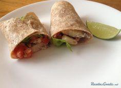 Burritos saludables de merluza #Recetas #RecetasFáciles #Cena #CenaLigera #Dinner #Burritos