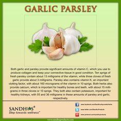 #Health Benefits of #Garlic and #Parsley #SandhuProducts #Ayurveda #Livermore #Slim #WeightLoss www.sandhuproducts.com