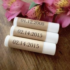 Lip balms as favors! So convenient, cheap, and you can just stick them anywhere!!