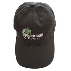 Pickleball Marketplace - Organic Cotton Twill Ball Cap - Grey - Embroidered  w  Logo 2a7572baccac
