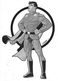 Mon-El - Legion of Super-Heroes  commission by George Perez