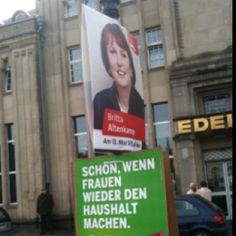 Wahlplakate zur Landtagswahl 2012 an der Margarethenhöhe
