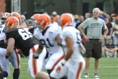 Cleveland Browns owner Jimmy Haslam watches practice during NFL football training camp at the team's facility in Berea, Ohio Wednesday, July 31, 2013.