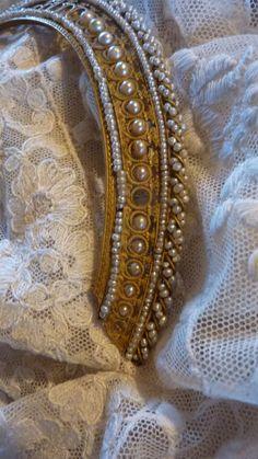 Exquisite antique French Empire  crown / diadem / comb PEARLS