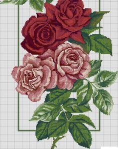 Cross stitch roses (part Just Cross Stitch, Cross Stitch Baby, Cross Stitch Flowers, Cross Stitch Kits, Cross Stitch Charts, Cross Stitch Designs, Cross Stitch Patterns, Cross Stitching, Cross Stitch Embroidery
