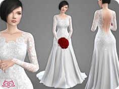 Sims 4 CC's - The Best: Wedding Dress 10 (original mesh) by Colores Urbano...