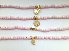 Pink Seed Bead Bracelets  Friendship Bracelets with by Annyse