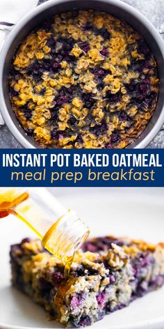 Instant Pot baked oatmeal is tender and lightly sweet, and cooks up without the need for your oven! Customize with different add ins, and bake up in a cake pan or silicone molds. #sweetpeasandsaffron #instantpot Oatmeal Cake, Baked Oatmeal, Vegetarian Meal Prep, Vegetarian Recipes, Best Breakfast Recipes, Sweet Peas, Breakfast Burritos, Cake Pans, Freezer Meals