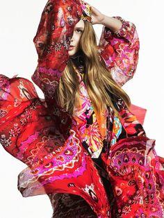 Fashion editorial, print mix