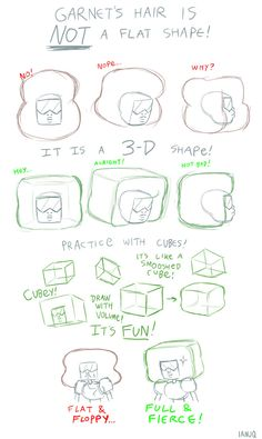 "pretty much one of the hardest things to conceptualize. was working this out for a future ""drawing guide"" and thought i'd share. the shapes that you draw can exist in 3d space… think about it… it's cooool"