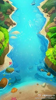 Grat clean illustrationvivid colorswater depth