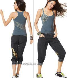 Zumba Fitness Cargo Pantalon de sport pour femme