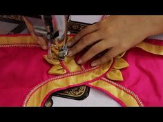 How to Cut and Stitch Blouse ki Back Design Patch Work Blouse Designs, Kids Blouse Designs, Simple Blouse Designs, Stylish Blouse Design, Blouse Neck Designs, Sleeve Designs, Neck Designs For Suits, Back Neck Designs, Cotton Saree Blouse Designs