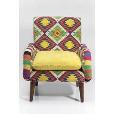 Πολυθρόνα Ethnotica  Υπέροχη πολυθρόνα σε ένα διαχρονικό σχεδιασμό και υπέροχο έθνικ μοτίβο. Ένα έπιπλο με χαρακτήρα που στιγματίζει το χώρο.  €985 Kare Design, Wingback Chair, Armchair, Funky Furniture, Accent Chairs, Inspiration, Color, Home Decor, Rest