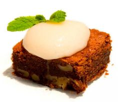 Brownie de queso mascarpone Quescrem y nueces