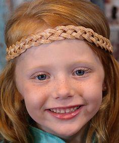 Look at this #zulilyfind! Gold Elegant Braid Boho Headband #zulilyfinds
