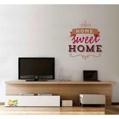 Vinilos Decorativos - Frase de recepcion: Home sweet Home, Bienvenidos WALL STICKER DECOR